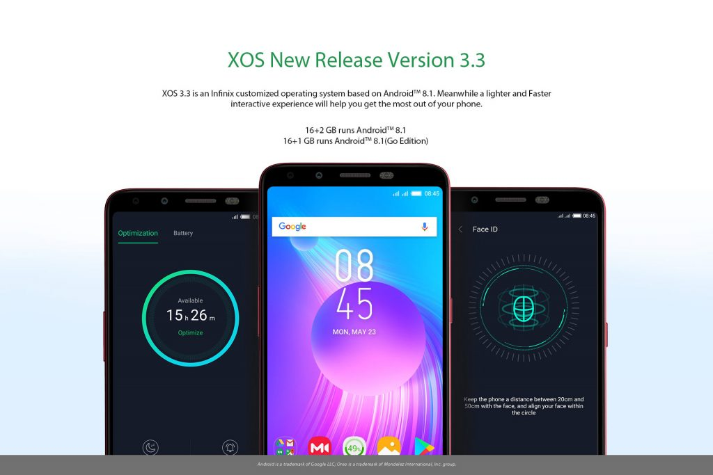 Infinix Hot 6 X606D BG couple 16GB ROM 1GB RAM 13MP 8MP Dual Camera android 81 oreo