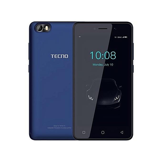 TECNO F1 Jumia Kenya 8GB 1GB RAM 5 inch display 2000 mAh Battery Dual SIM Dark Blue Back Front