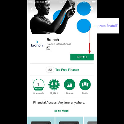 how to download branch app branch loan application install branch