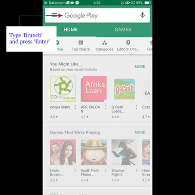 how to download branch app branch loan application search play store