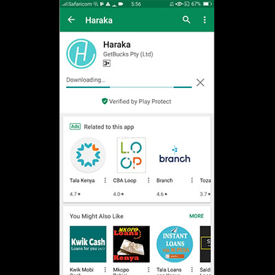 how to download haraka app haraka loan application wait for it to download