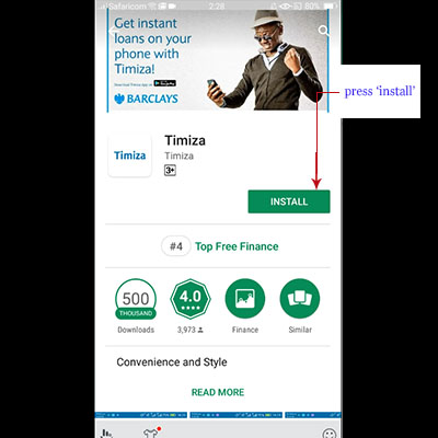 how to download timiza app timiza loan application install app